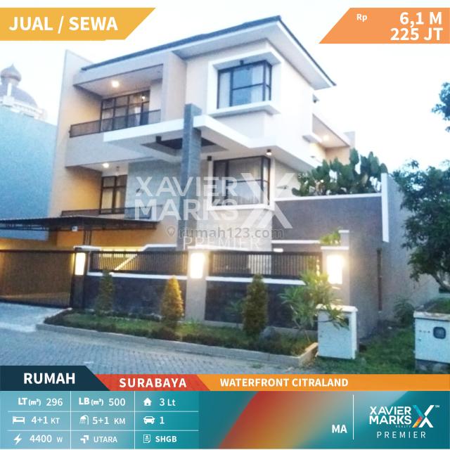 Rumah Waterfront Citraland, Sambikerep, Surabaya