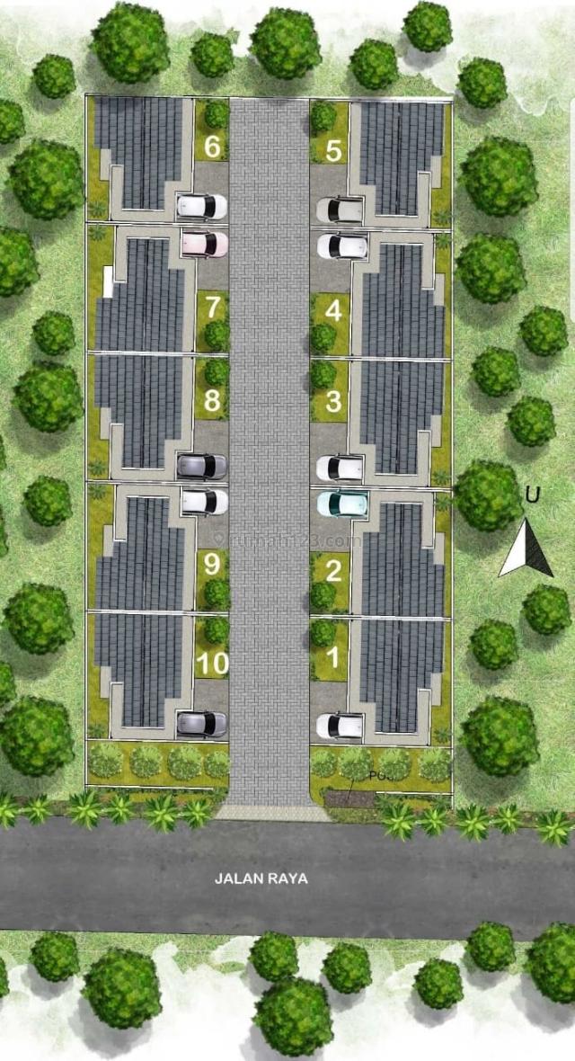Rumah Baru,Luas Tnah 78/luas bangunan 71 di pondok aren, Pondok Aren, Tangerang