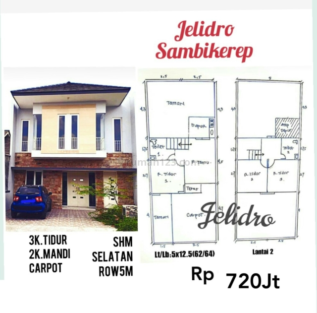 rumah Jl.Dukuh Jelidro kav.1c Sambikerep dekat PTC, Sekolah,Citraland, Sambikerep, Surabaya