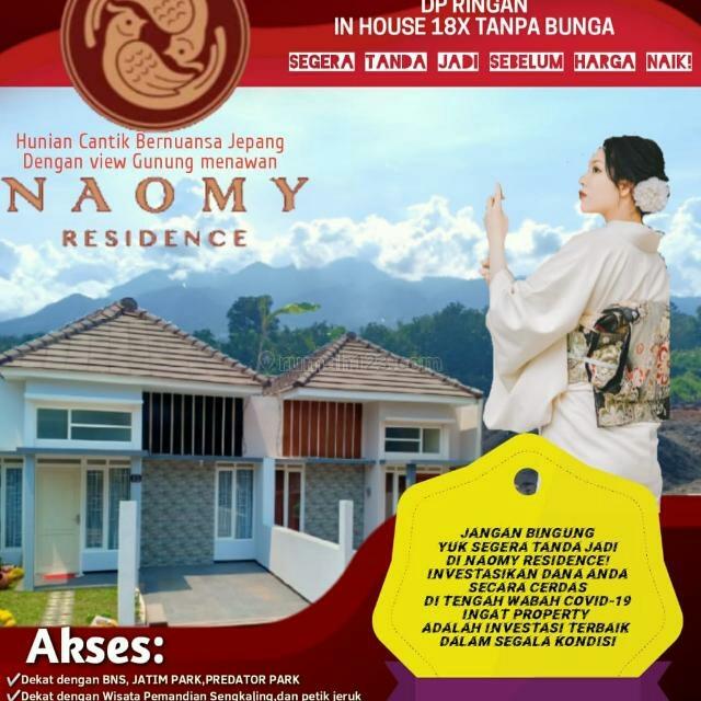 Rumah baru murah Naomy Residence Dau Malang, Dau, Malang