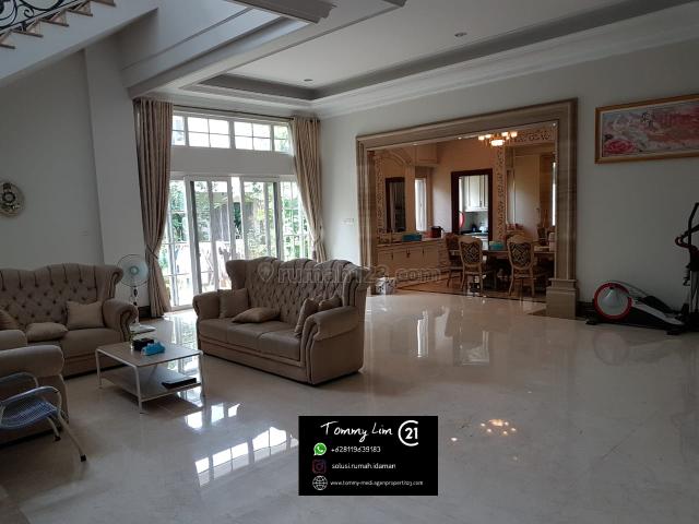 Rumah Mediterania Resort PIK. Lantai Marmer, Semi Furnished. NEGO, Pantai Indah Kapuk, Jakarta Utara