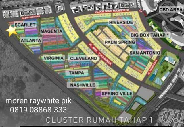 Dijual Rumah Cluster Scarlet PIK 2, Pantai Indah Kapuk, Jakarta Utara