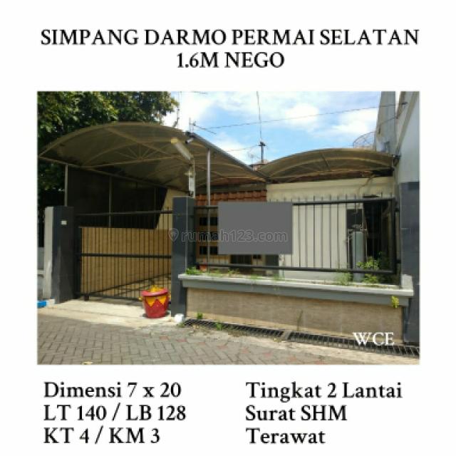 Rumah simpang darmo permai selatan surabaya dukih pakis dekat ptc nego, Darmo permai, Surabaya