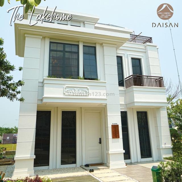 Rumah Nuansa Eropa Mewah Ditepi Danau Daisan Lavon Swancity, Cikupa, Tangerang
