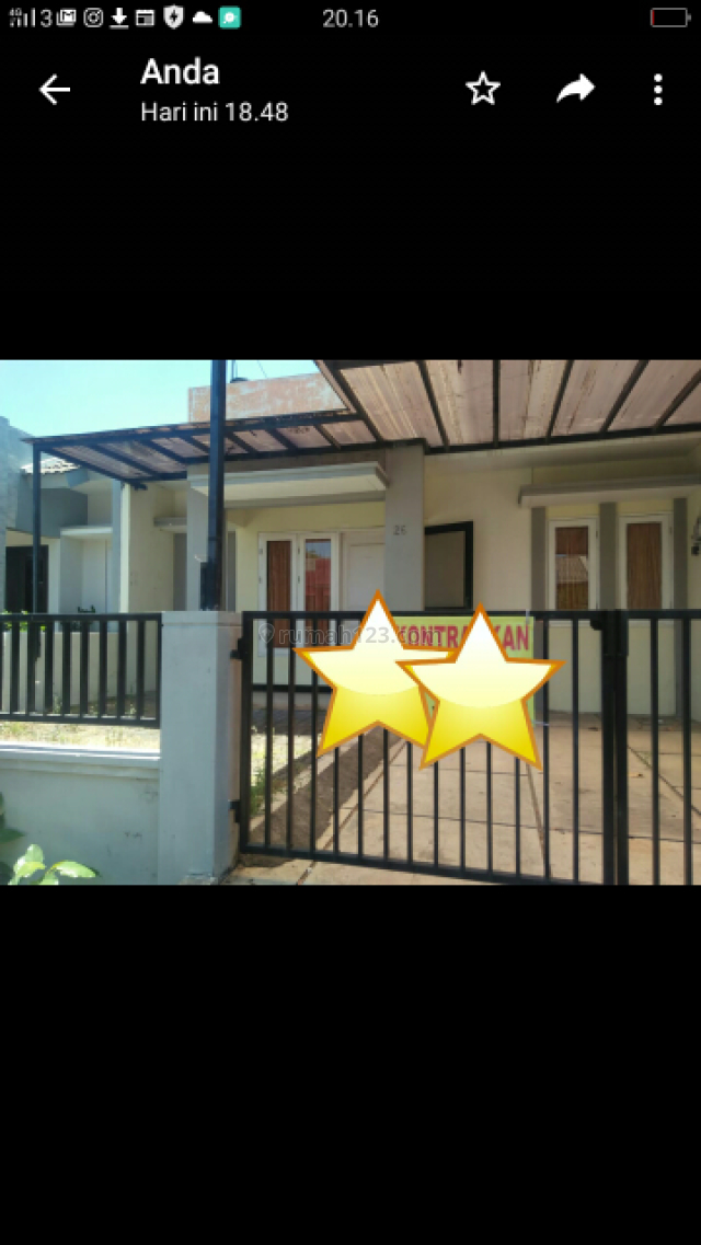 rumah 1,5 lantai dalam cluster style minimalis siap huni, Waru, Sidoarjo