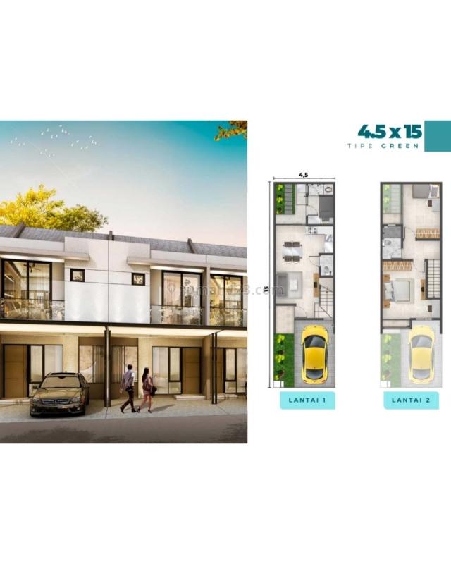 PIK 2 - Rumah Milenial Cluster Florida tipe Green 4,5x15 2+1BR Free VVIP Pass PIK2, Pantai Indah Kapuk, Jakarta Utara