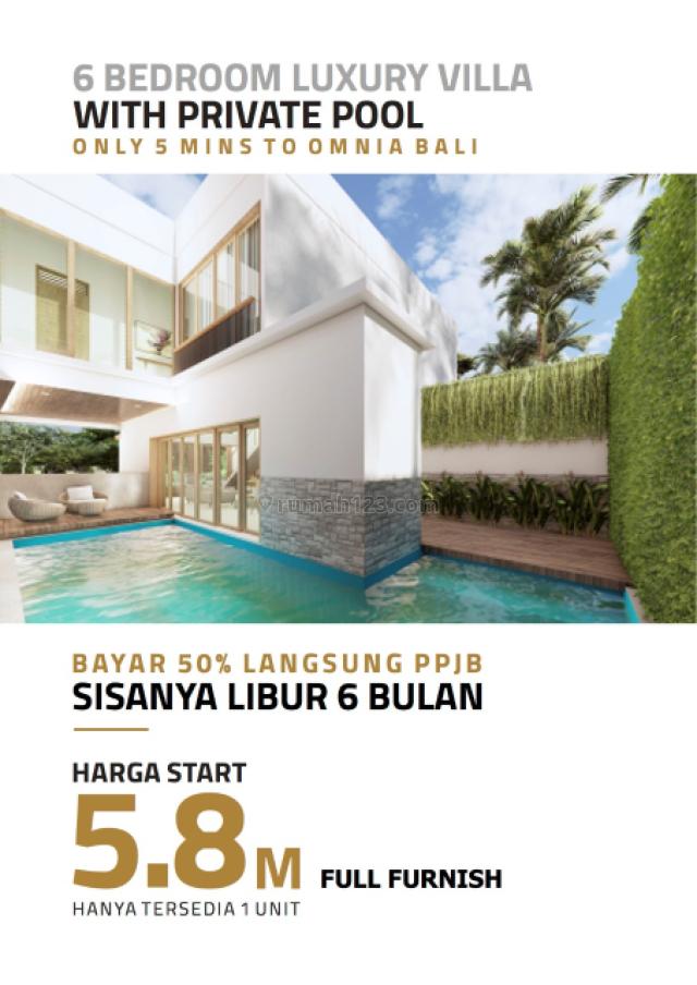 LUXURY VILLA Limited edition full Furnish lengkap dengan private pool 5 mnt k OMNIA, Uluwatu, Badung