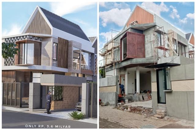 Exclusive private townhouse dengan konsep garden living plus rooftop, Pasar Minggu, Jakarta Selatan