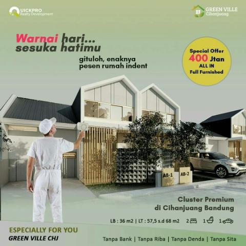Rumah konsep jepang harga terjangkau di bandung, Cihanjuang, Bandung