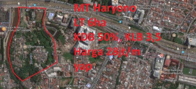 Tanah Samping MT Haryono Residence, MT Haryono, Jakarta Selatan