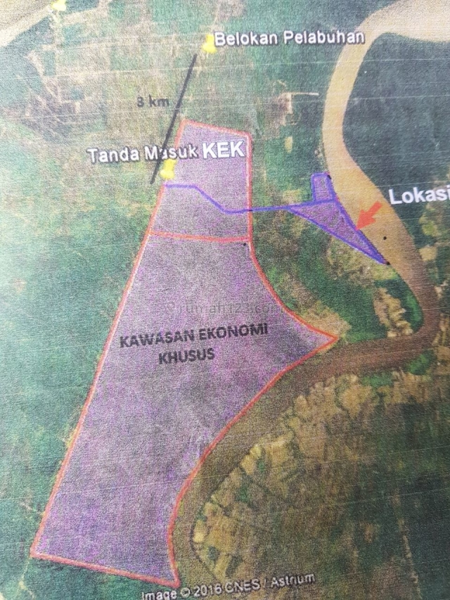 Tanah 127 Hektar Palembang Sebelah Kawasan Ekonomi Khusus, Tanjung Siapiapi, Palembang