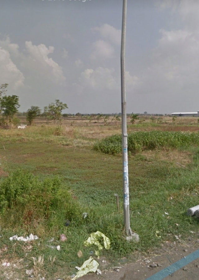 BU Tanah industri/pabrik/kompleks pergudangan dekat exit tol KLBM, Menganti, Surabaya