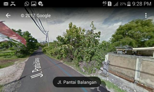 Tanah 1ha di Jalan Raya Pantai Balangan, Balangan, Badung