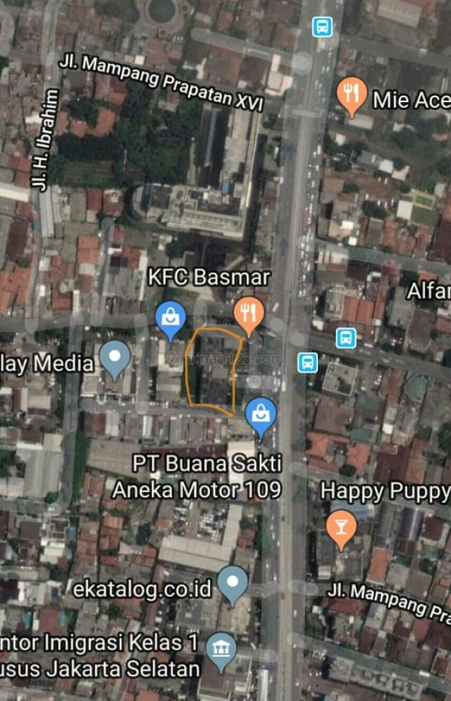 Tanah daerah Warung Buncit Raya, Duren Tiga, Jakarta Selatan