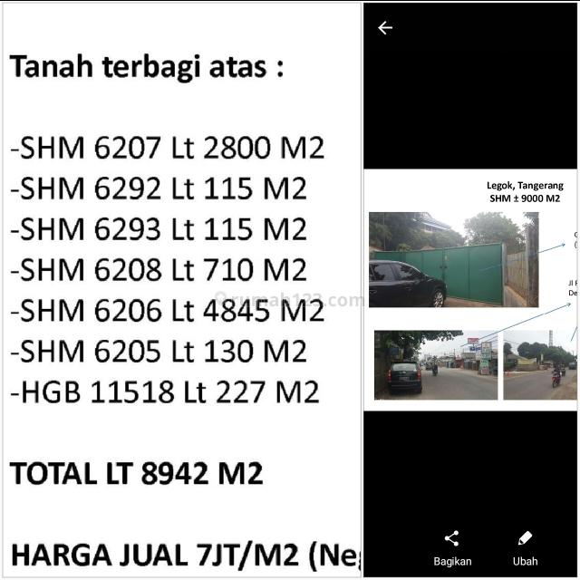 tpi00543 Li Tanah di Tangerang, Legok, Tangerang