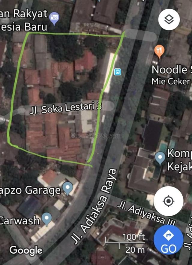 Tanah daerah Adiaksa Raya, Lebak Bulus, Jakarta Selatan