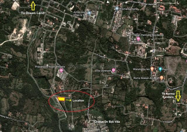 Freehold Land In Ungasan Close To Villa Complex, Ungasan, Badung