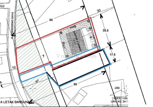 tanah lokasi strategis langka komersil campuran c1, srengseng, jakarta barat