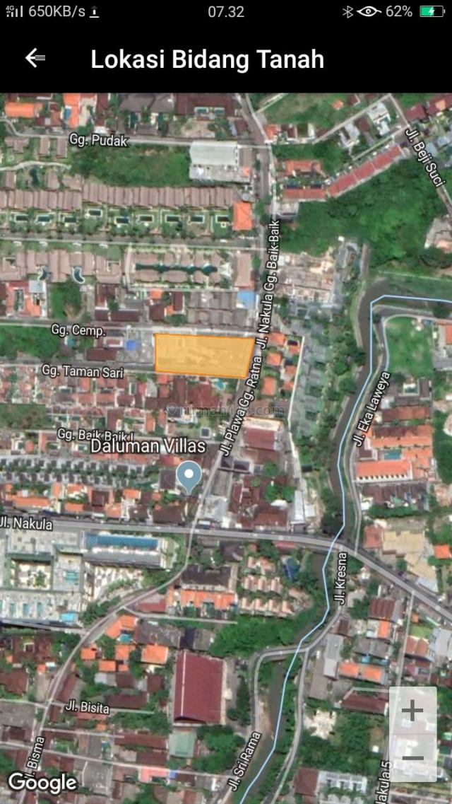 Prime Land for Business Opportunity in Legian Bali, Legian, Badung