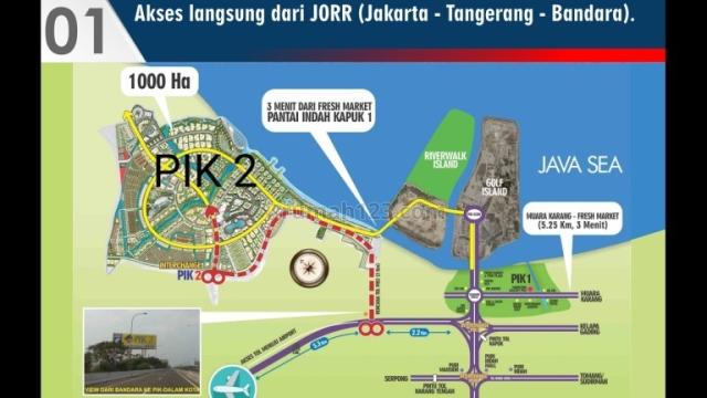 Kavling Komersial di PIK 2 di Jakarta Utara Luas : 1 HA, Pantai Indah Kapuk, Jakarta Utara