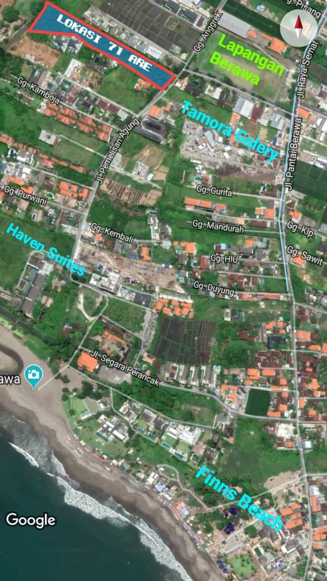 Prime Freehold Land Business Opportunity In Berawa Beach Street In Walking Distance To The Beach, Canggu, Badung