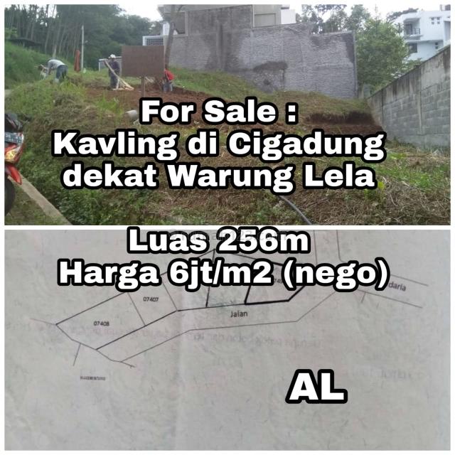 Kavling di Cigadung dekat warung lela, Cigadung, Bandung