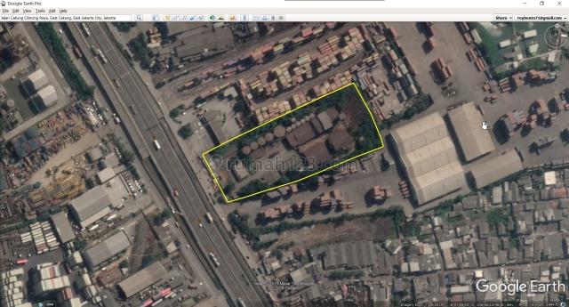 Tanah Cakung 1,4 Ha Jakarta Utara Strategis Siap Pakai di Pinggir Tol Cakung JOR, Cilincing, Jakarta Utara