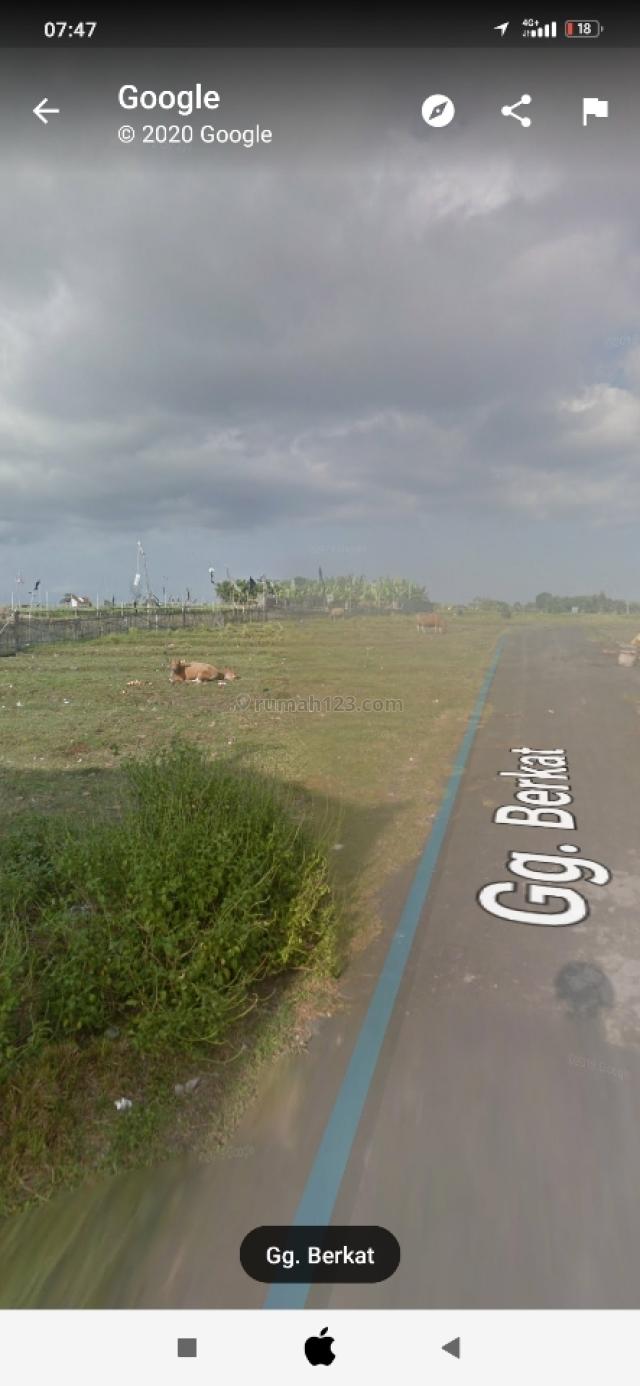 Tanah di krobokan dengan view sawah dan Gunung, Kerobokan, Badung