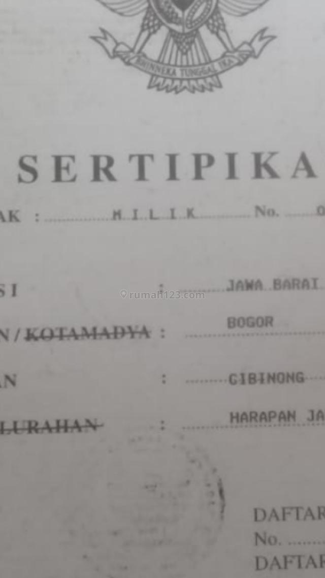 Tanah Luas 9998 m2 Murah..Cocok u/Cluster dll, Cibinong, Bogor