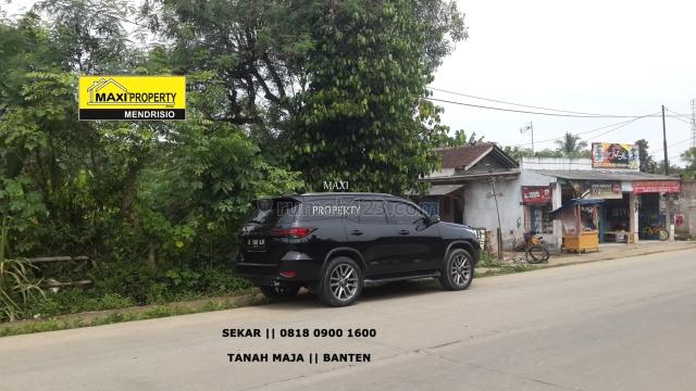 Turun Harga Tanah Bagus Untung Ramai Pinggir Jalan Utama Tanah Maja, Maja, Lebak