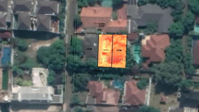 Tanah 2 Kavling @250m² di Prime Area Cipete Jakarta Selatan dengan Lingkungan Tenang Dan Nyaman, Cipete, Jakarta Selatan