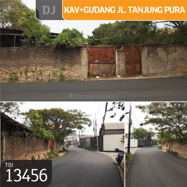 Kavling+Gudang Jl. Tanjung Pura, Jakarta Barat, 24x23m, SHM, Kalideres, Jakarta Barat