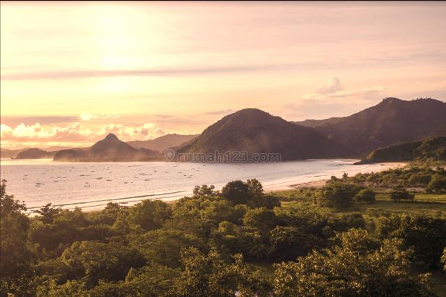 Tanah murah view sunset GP MANDALIKA area, jalan kaki ke pantai, Pujut, Lombok Tengah