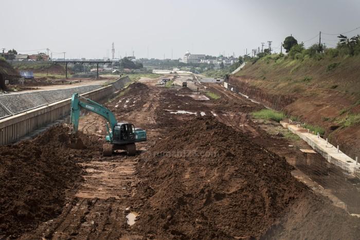 Pembangunan Tol Cojago Seksi II Terus dilakukan agar bisa beroperasi akhir 2016. Rumah123/Jhony Hutapea