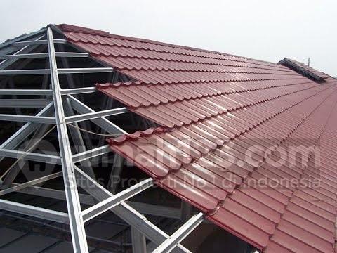 Rangka atap baja ringan. Foto: i.ytimg.com