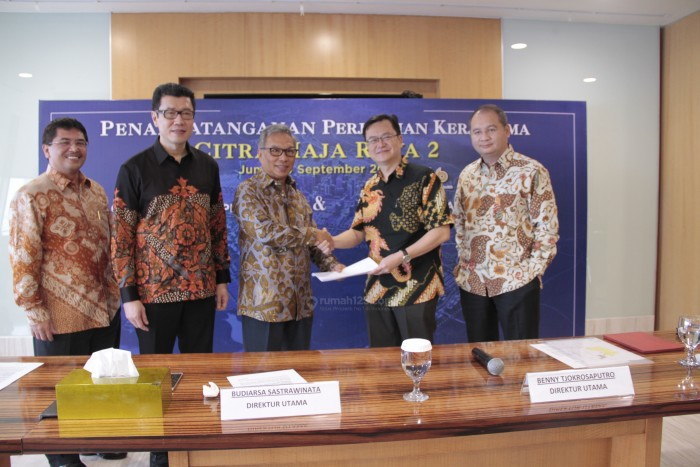 Penandatanganan Kerja sama antara PT Ciputra Residence dan PT Putra Asih Laksana.