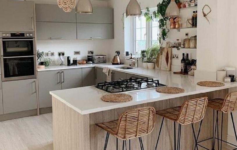 lantai dapur lebih tinggi