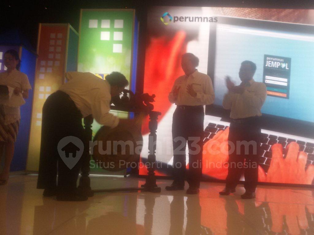 Peluncuran aplikasi online Jempol Perumnas demi memuaskan pelangganannya. Foto: Rumah123/Ade Miranti