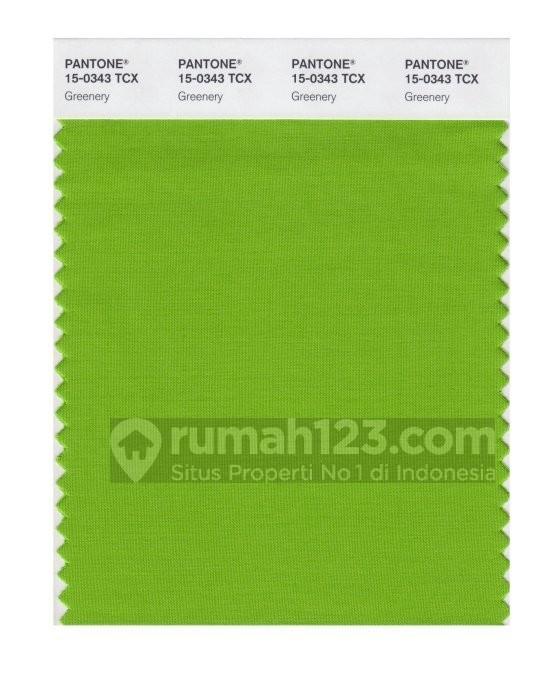 Warna hijau-kuning diprediksi bakal tren tahun depan oleh Pantone. Foto: Domain.com