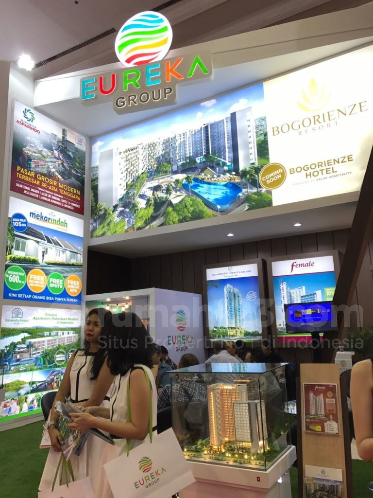 Booth Eureka Group pada event Indonesia Property Expo (IPEX) 2017, di Jakarta Convention Center (JCC), 11-19 Februari. Foto: Rumah123
