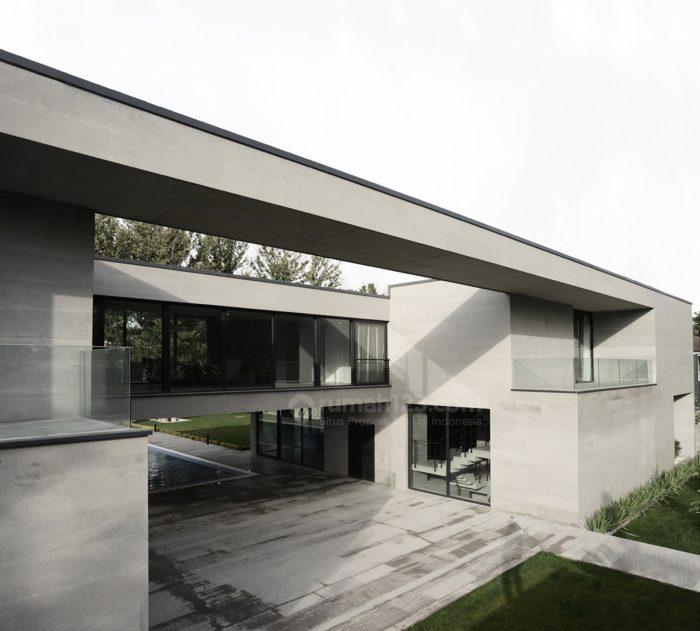 Desain Eksterior Rumah Mewah 1 Lantai  wow keren lho rumah minimalis dengan eksterior beton ekspos