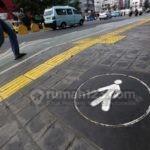 Yellow Line di Jalur Pedestrian, Upaya Bikin Jakarta Ramah bagi Disabilitas