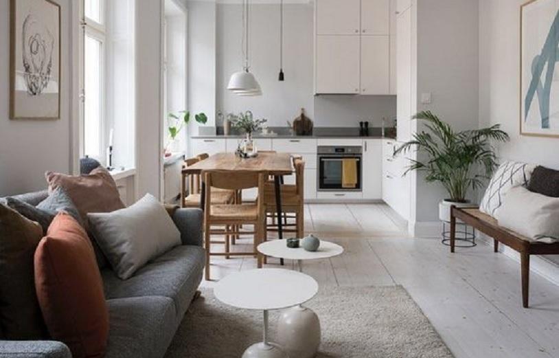 ruang keluarga dan dapur