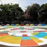 Warna-Warni di Simpang Tugu Proklamasi Jakarta Sambut Asian Games 2018