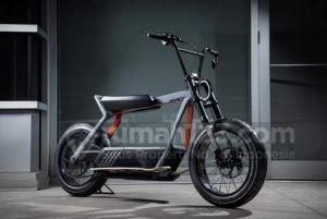 Asyiknya Jalan-jalan Muter Kompleks Pakai Skuter Listrik Harley Davidson
