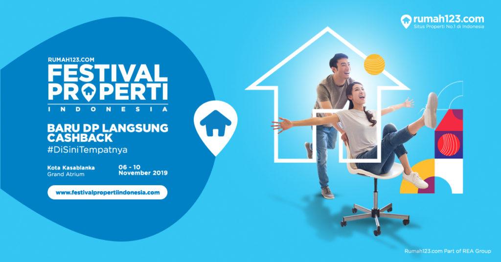 Festival Properti Indonesia diadakan pada 6-10 November 2019 di Kota Kasablanka (Rumah123.com)
