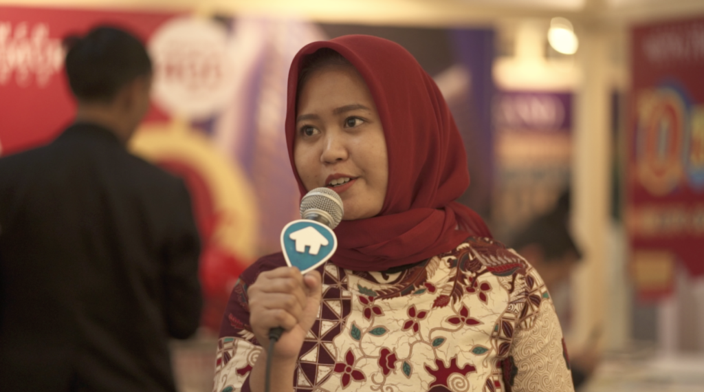 Suci, konsumen yang berhasil mendapatkan hunian di Festival Properti Indonesia - Rumah123.com