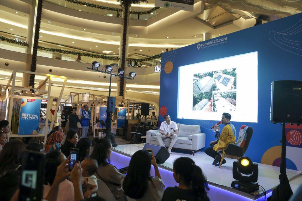 Amarangga Lubis, CEO dari SolarKita di acaratalkshowFestival Properti Indonesia pada Minggu, (9/11/2019).