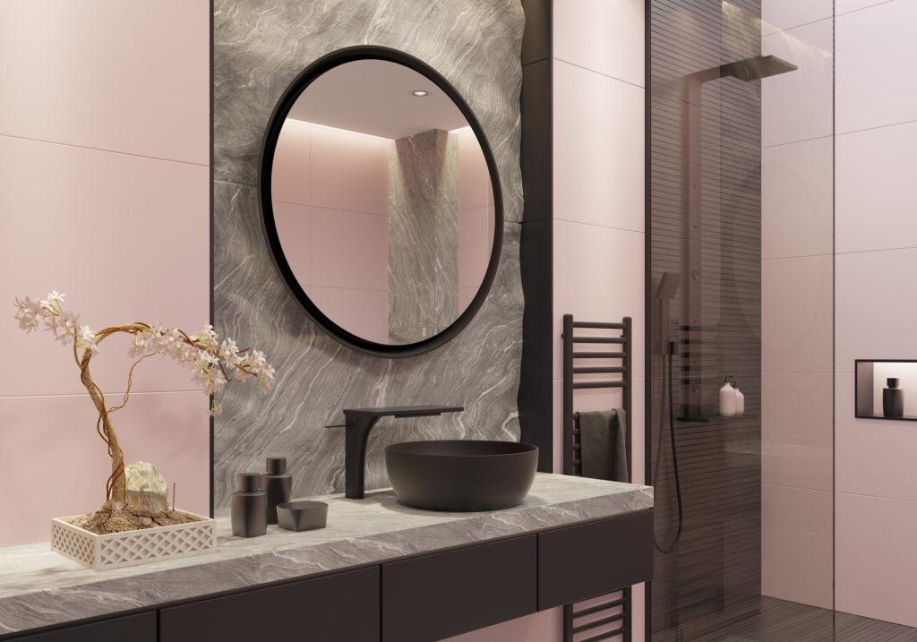 Sentuhan warna hitam matte merupakan salah satu desain kamar mandi yang diperkirakan menjadi tren di 2020 - Rumah123.com