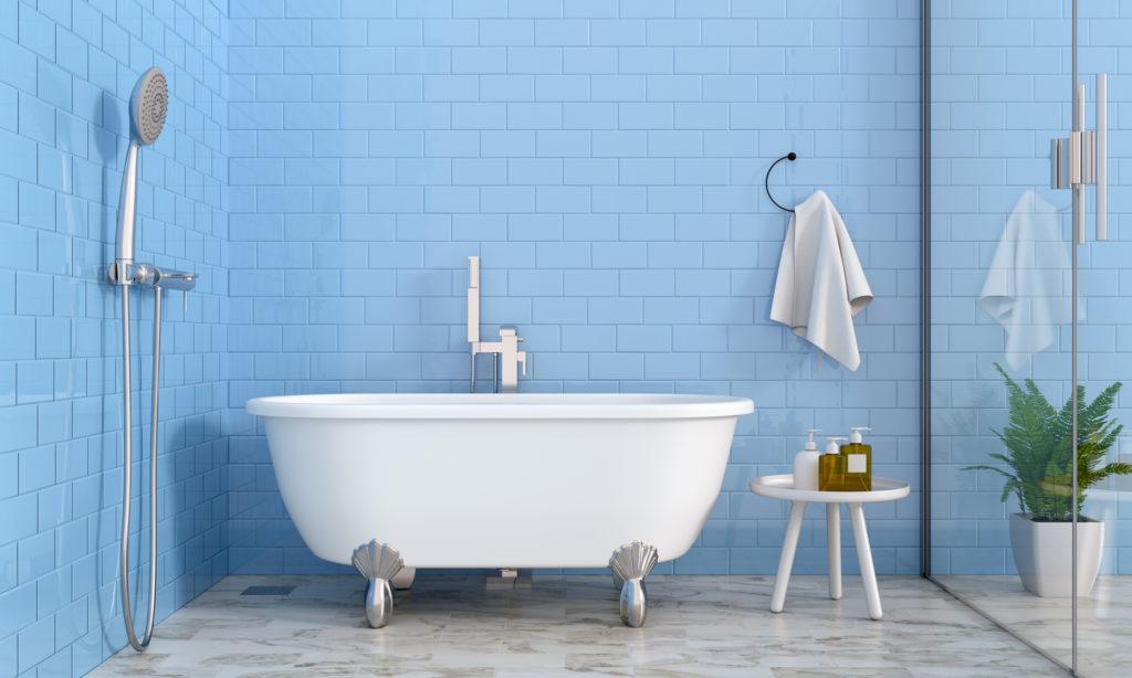 Sentuhan warna biru cerah, bisa jadi alternatif pengganti untuk warna putih - Rumah123.com